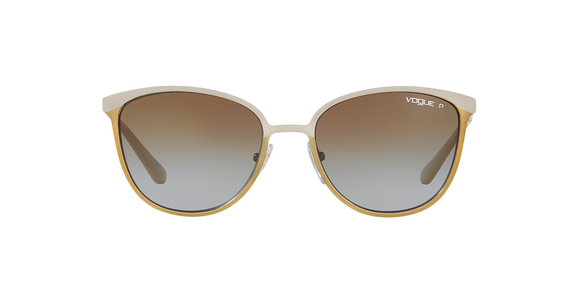 VOGUE LINE Gold Matte VO4002S 55 Brown polarized lenses 55mm
