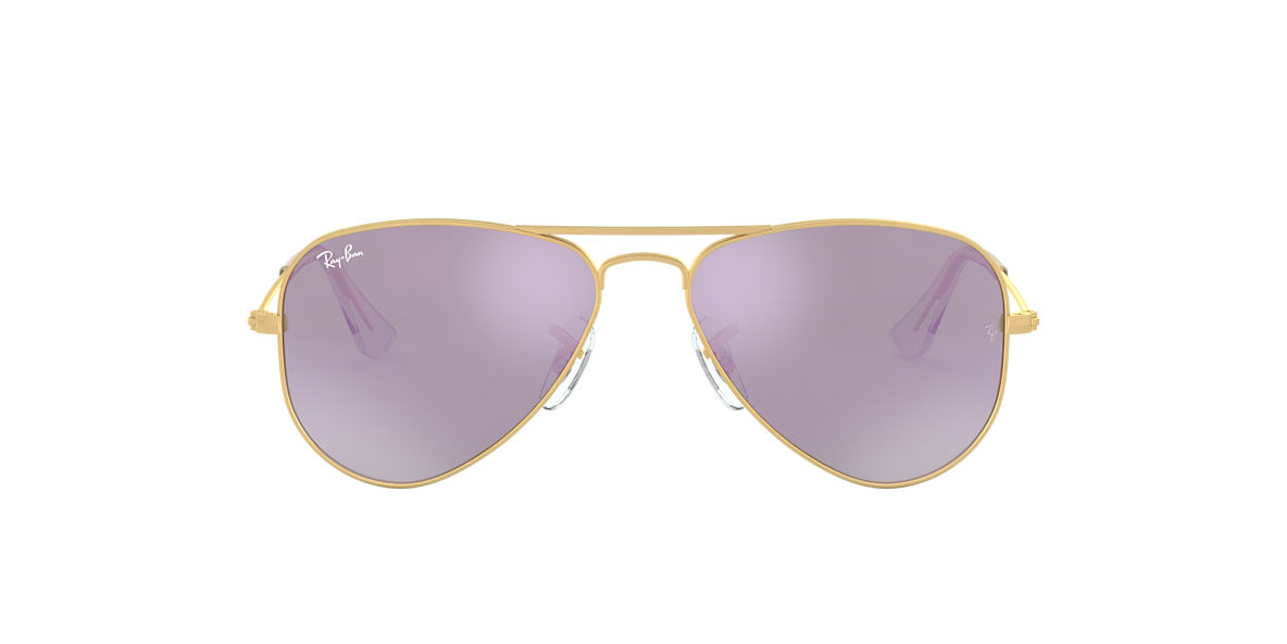 RAY-BAN CHILDRENS Gold Matte RJ9506S Purple lenses 50mm