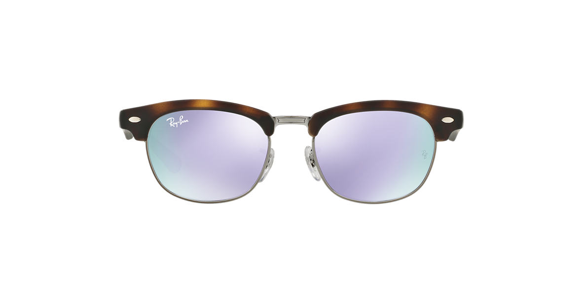 RAY-BAN CHILDRENS Tortoise Matte RJ9050S Purple lenses 45mm