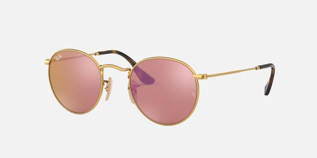 ray ban rose gold round