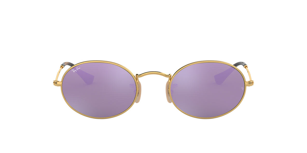 f71f046d5c Ray-ban Oval Flat Lens Sunglasses With Pink Flash Lens