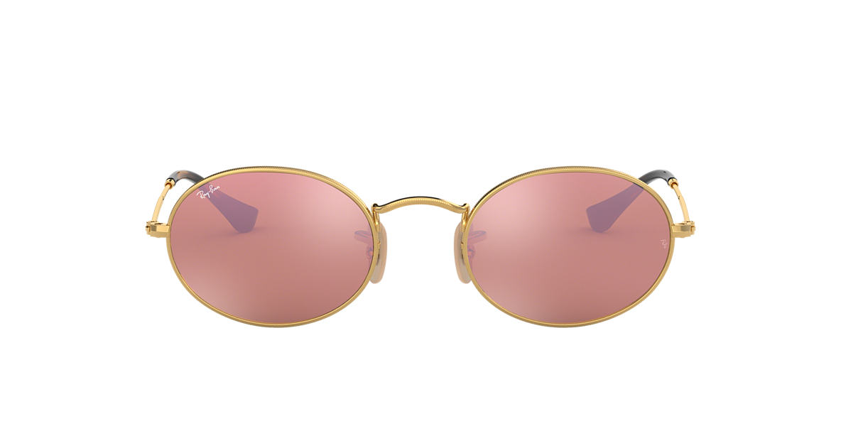 RAY-BAN Gold RB3547N 48 Pink lenses 48mm