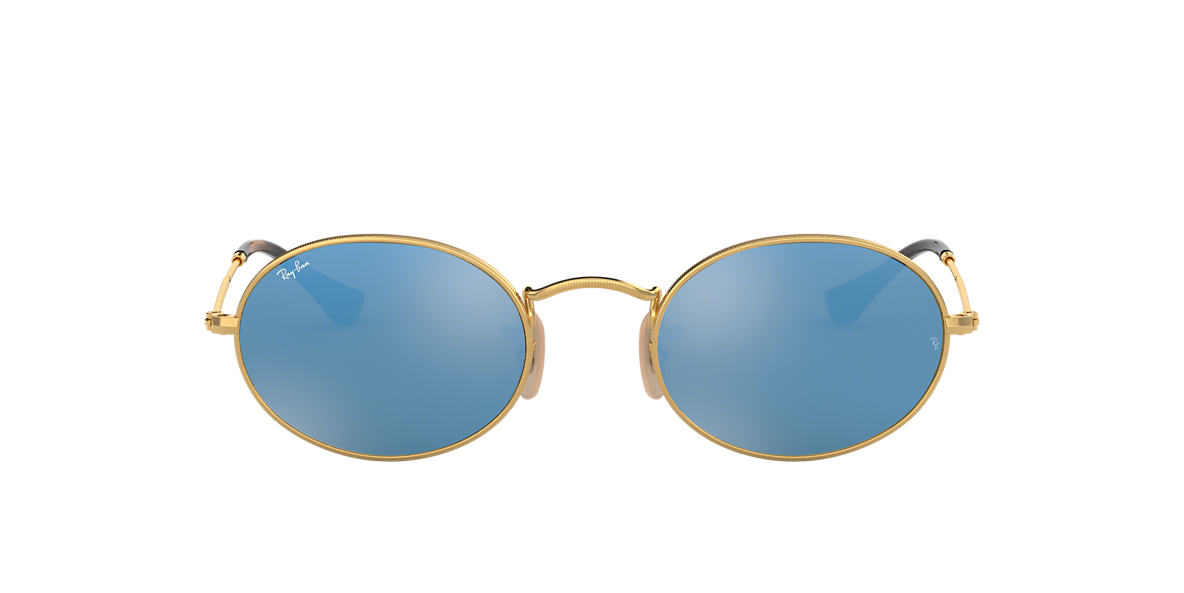RAY-BAN Gold Shiny RB3547N 51 Blue lenses 51mm