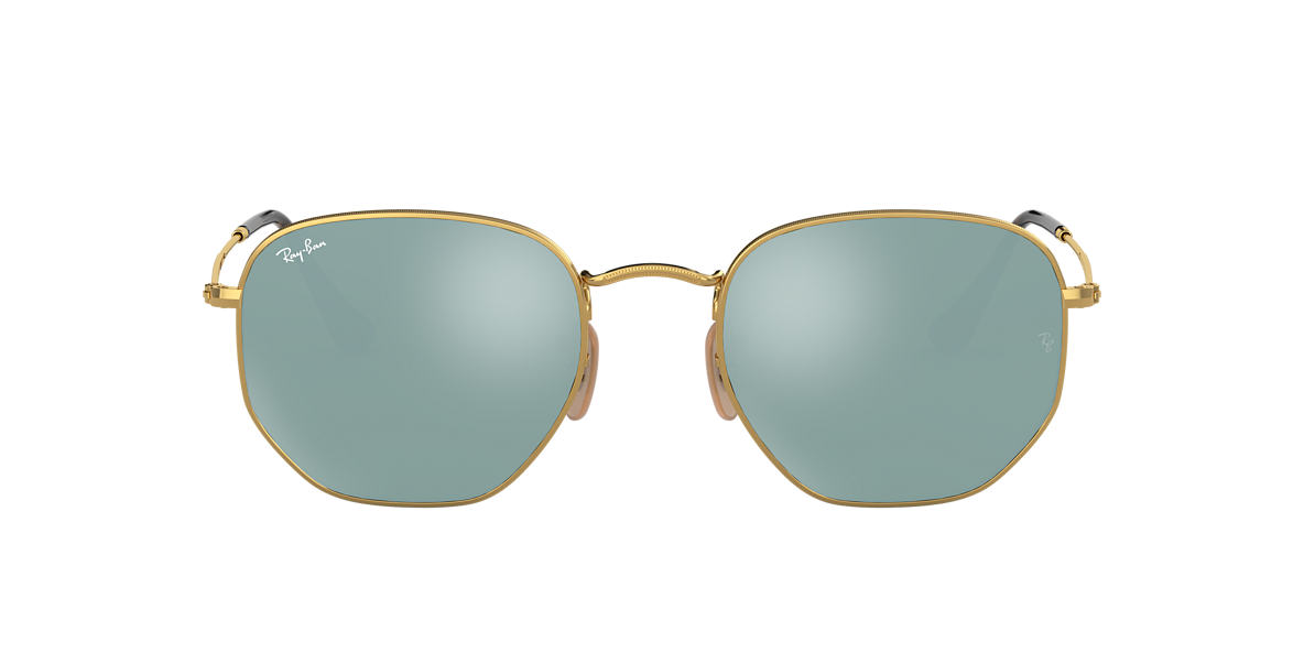 RAY-BAN Gold RB3548N 51 Grey lenses 51mm