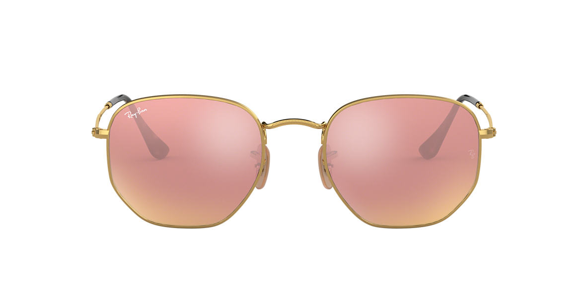 RAY-BAN Gold RB3548N 51 Rose Gold lenses 51mm