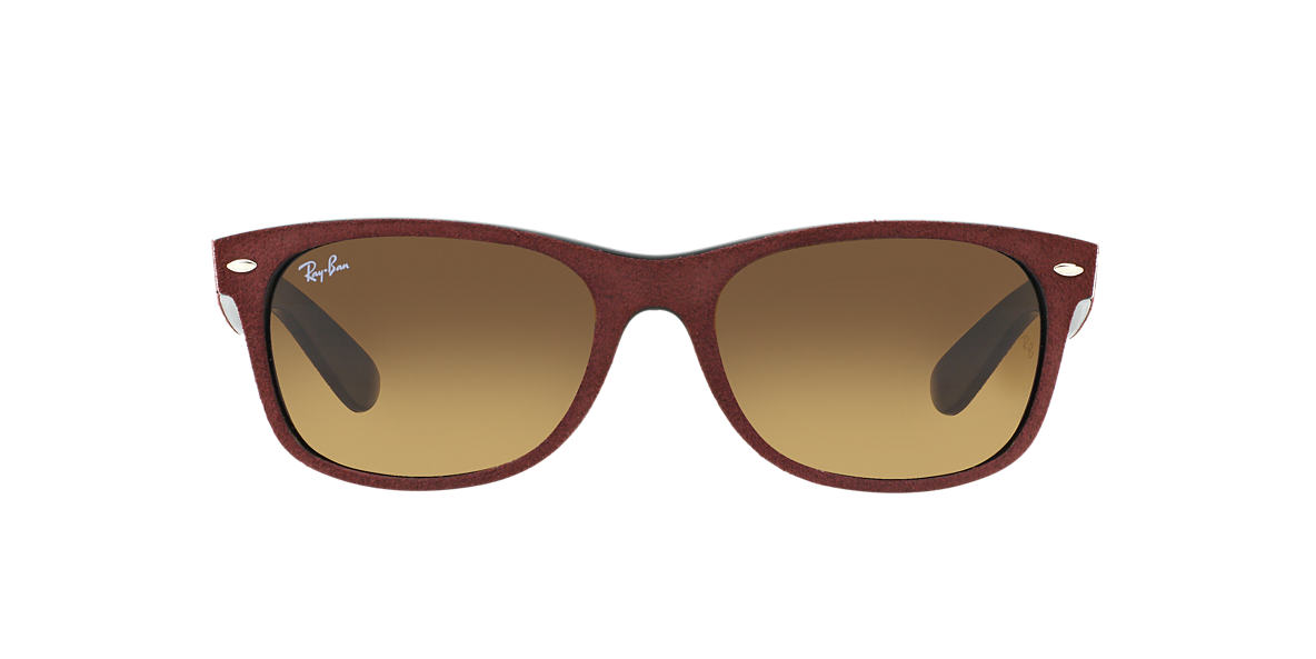 RAY-BAN Red RB2132 58 NEW WAYFARER Brown lenses 58mm