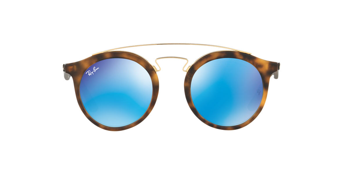 RAY-BAN Tortoise Matte RB4256 49 Blue lenses 49mm