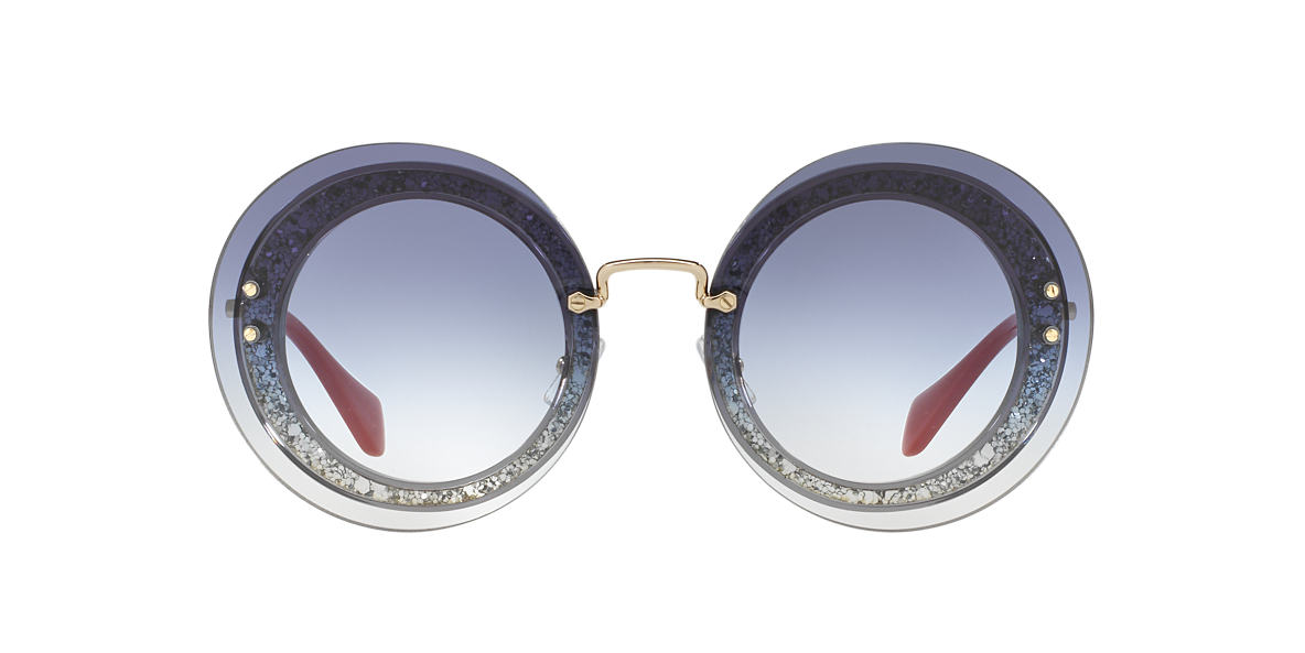 MIU MIU Grey MU 10RS 64 Blue lenses 64mm