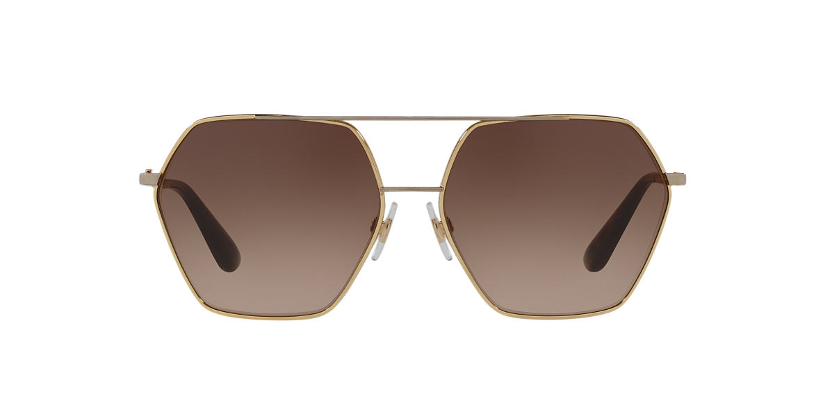 DOLCE & GABBANA Gold DG 2157 Brown lenses 59mm