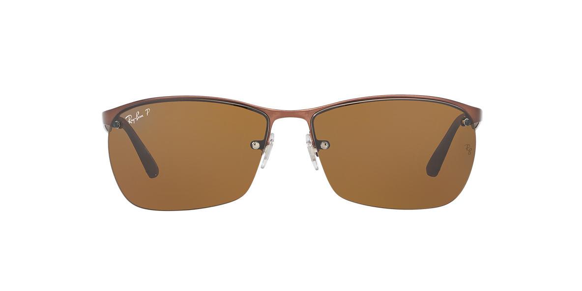 RAY-BAN Brown RB3550 Brown polarised lenses 64mm