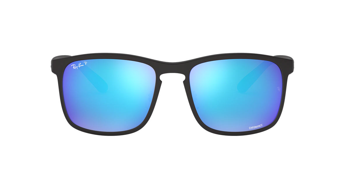 RAY-BAN Black Matte RB4264 58 Blue polarized lenses 58mm