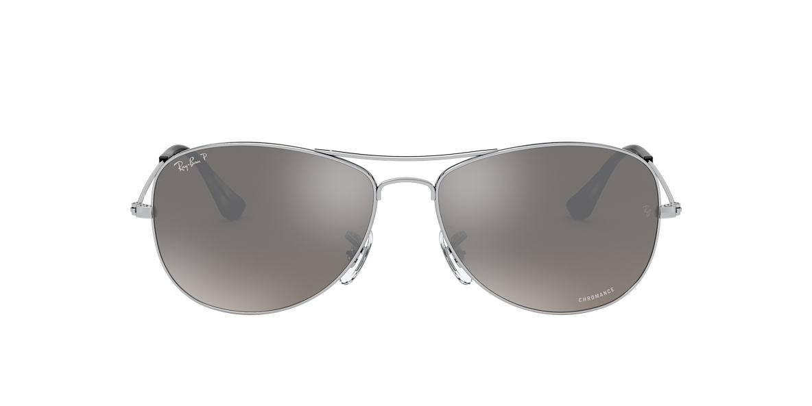 RAY-BAN Silver Shiny RB3562 59 Grey polarized lenses 59mm