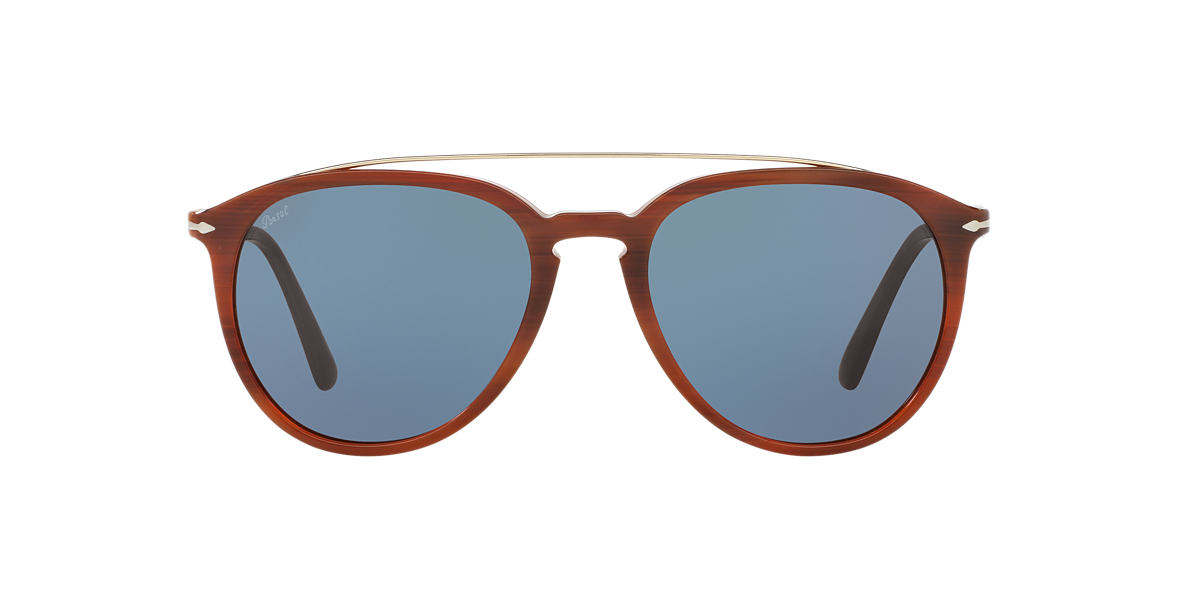 PERSOL Brown PO3159S Blue lenses 55mm