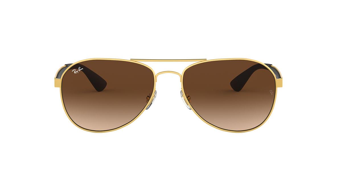 ray ban aviators sunglass hut uk  ray ban rb3549 61 61 brown & gold sunglasses