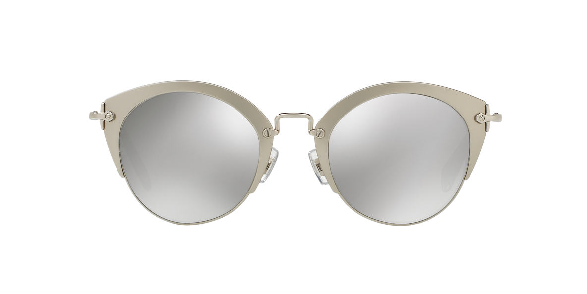 MIU MIU Silver MU 53RS Grey lenses 52mm