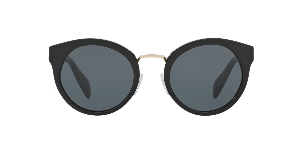 PRADA Black PR 05TS 53 Grey lenses 53mm