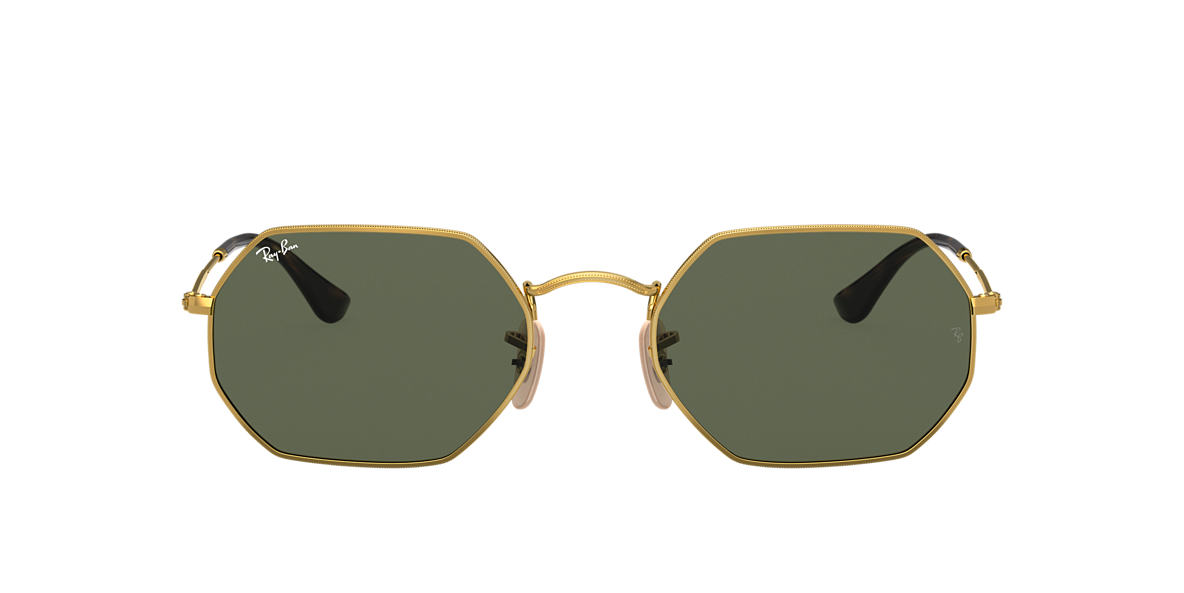RAY-BAN Gold RB3556N Green lenses 53mm