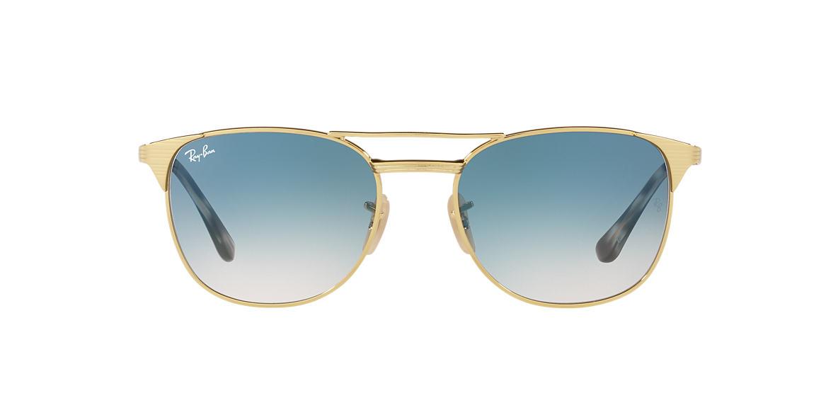 ray ban aviator 55 gold blau