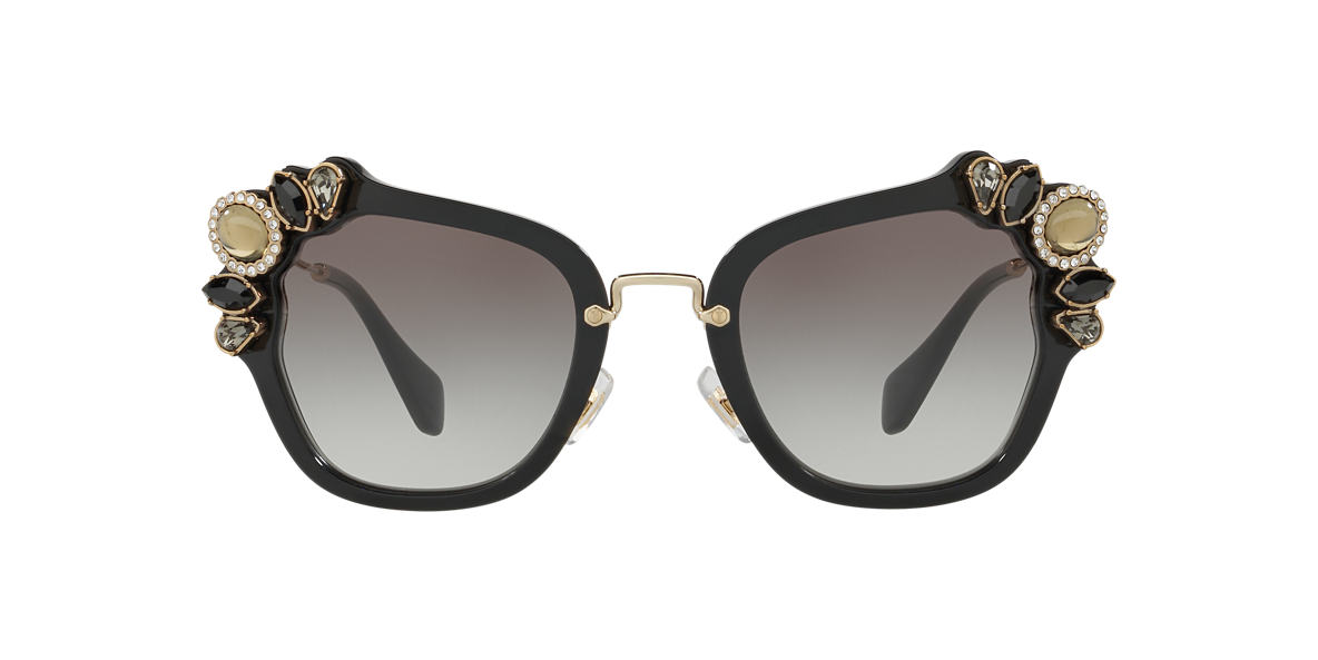 MIU MIU Black MU 03SS Grey lenses 51mm