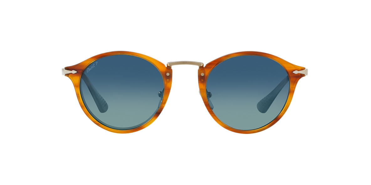 PERSOL Brown PO3166S 49 Blue polarized lenses 49mm