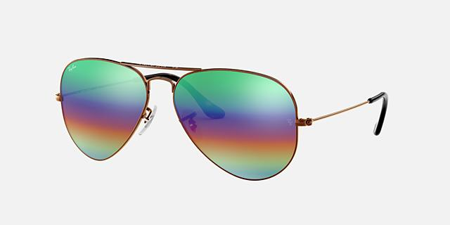 RB3025 62 ORIGINAL AVIATOR RAINBOW