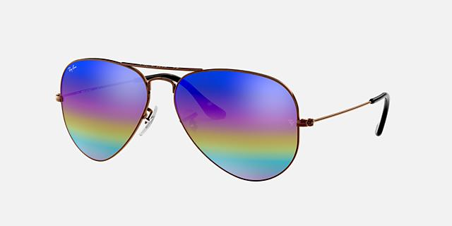 RB3025 58 ORIGINAL AVIATOR RAINBOW