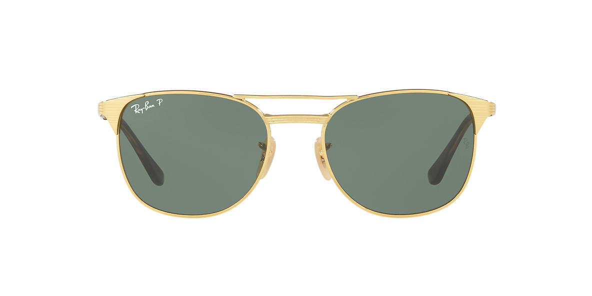 RAY-BAN Gold RB3429M 55 Green polarized lenses 55mm