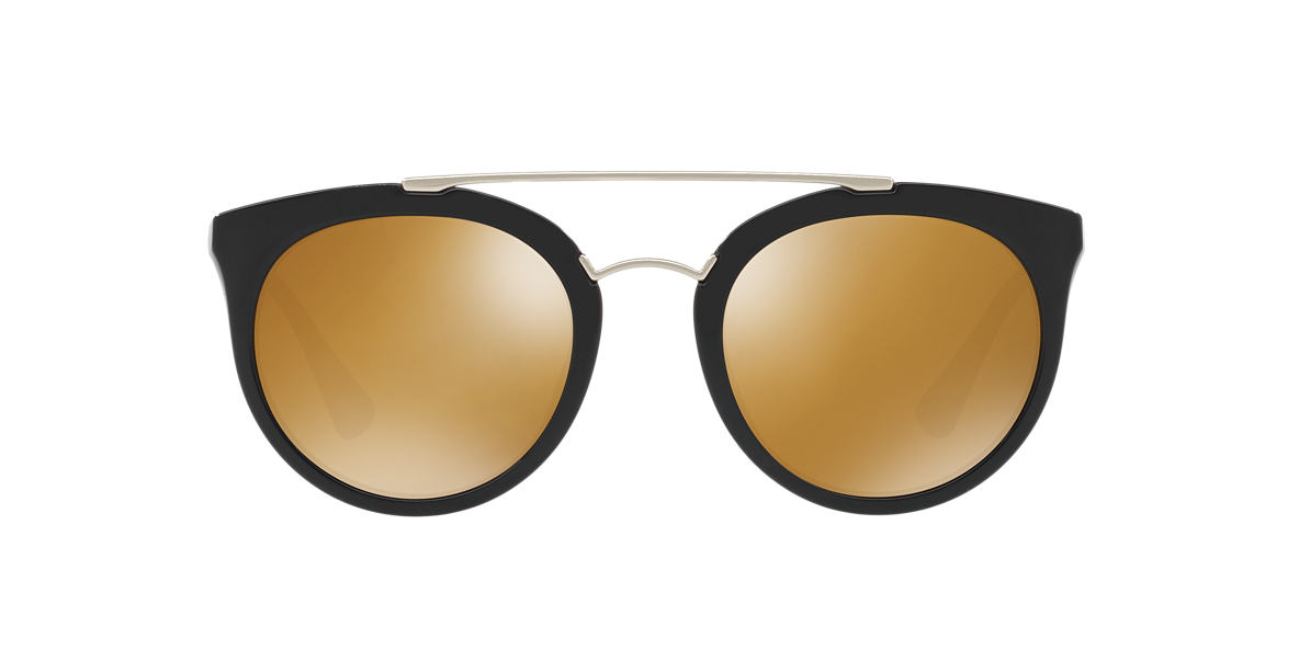 PRADA Black PR 23SS 52 CINEMA Gold polarized lenses 52mm
