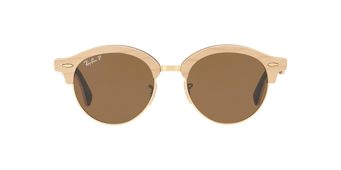RAY-BAN Gold RB4246M Brown polarised lenses 51mm