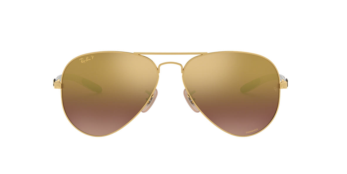 RAY-BAN Gold RB8317CH 58 Purple polarized lenses 58mm