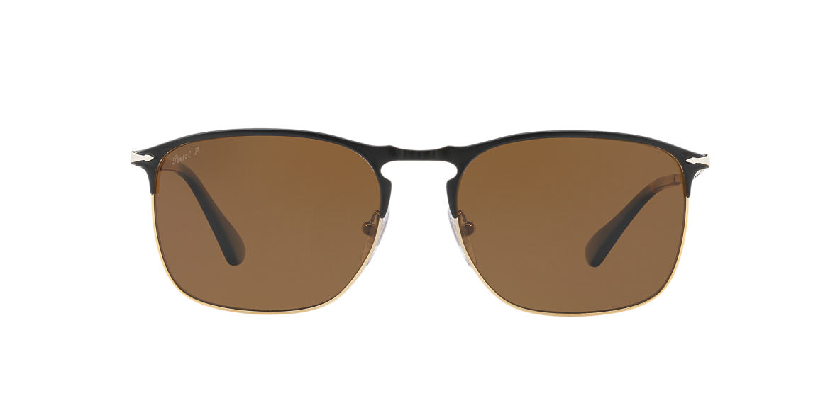 PERSOL Black PO7359S 58 Brown polarized lenses 58mm