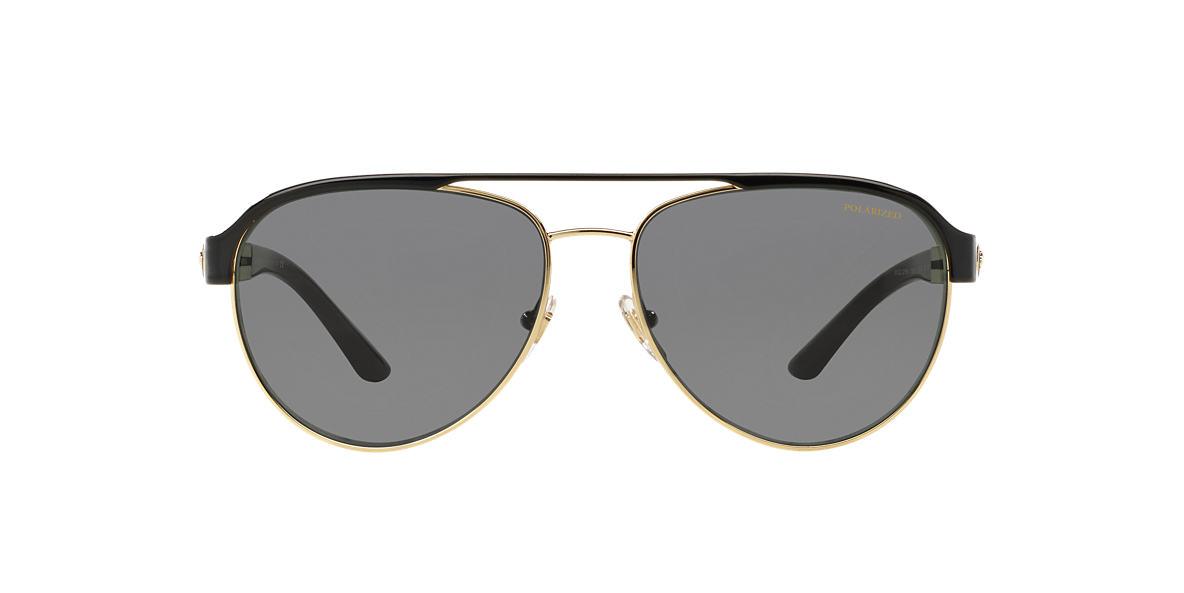 VERSACE Gold VE2165 58 Grey polarized lenses 58mm