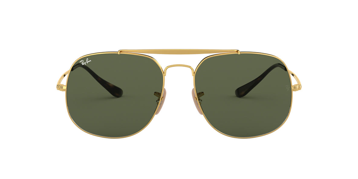 RAY-BAN Gold RB3561 57 Green lenses 57mm