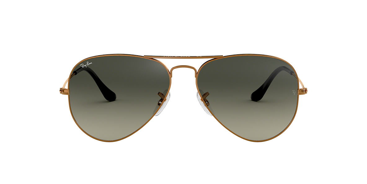 RAY-BAN Bronze RB3025 55 ORIGINAL AVIATOR Grey lenses 55mm