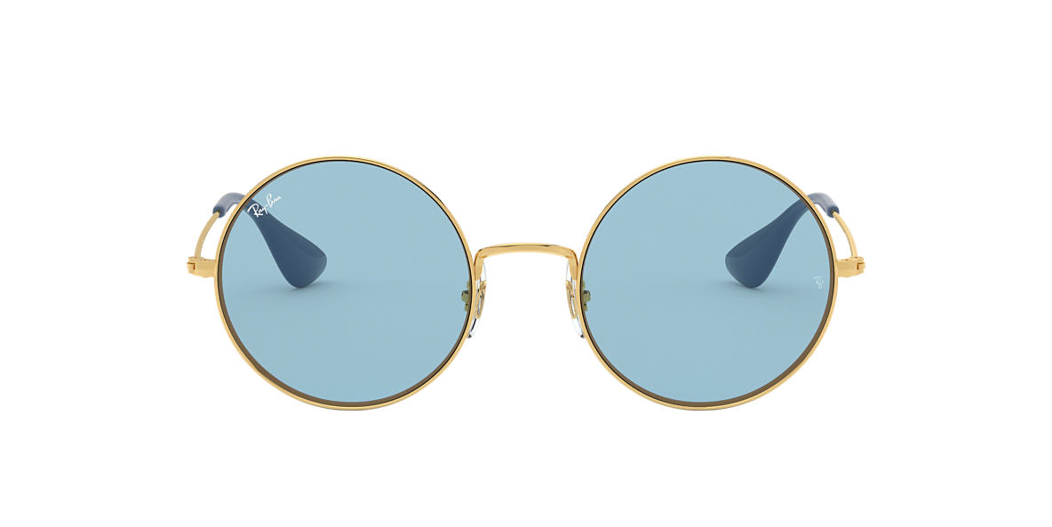 RAY-BAN Gold RB3592 Blue lenses 55mm