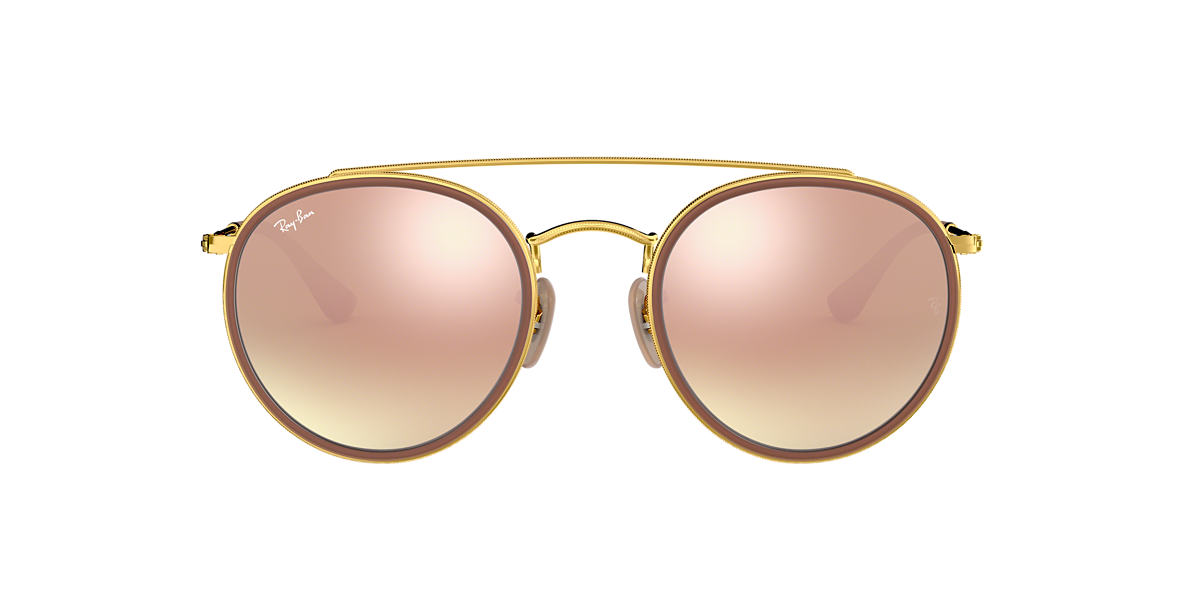 RAY-BAN Gold RB3647N 51 Pink lenses 51mm