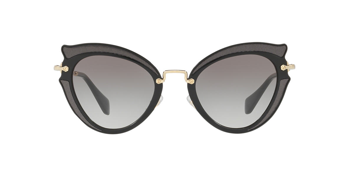 MIU MIU Black MU 05SS 52 Grey lenses 52mm