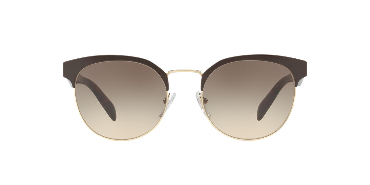 PRADA Gold PR 61TS 54 Brown lenses 54mm