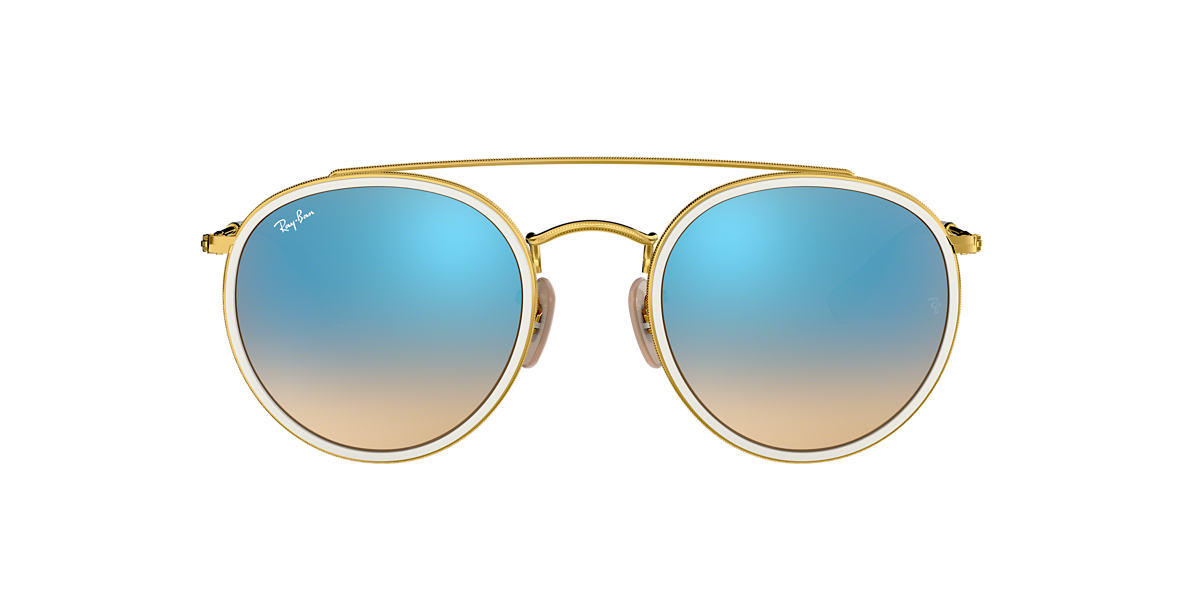 RAY-BAN Gold RB3647N 51 Blue lenses 51mm