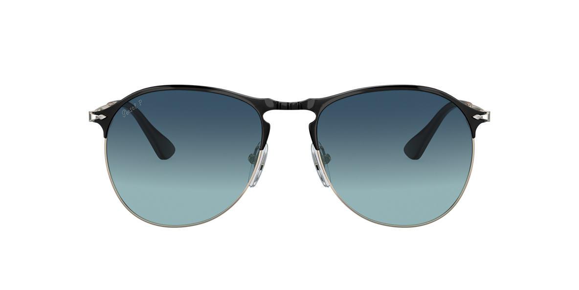 PERSOL Black Matte PO7649S 56 Blue polarized lenses 56mm