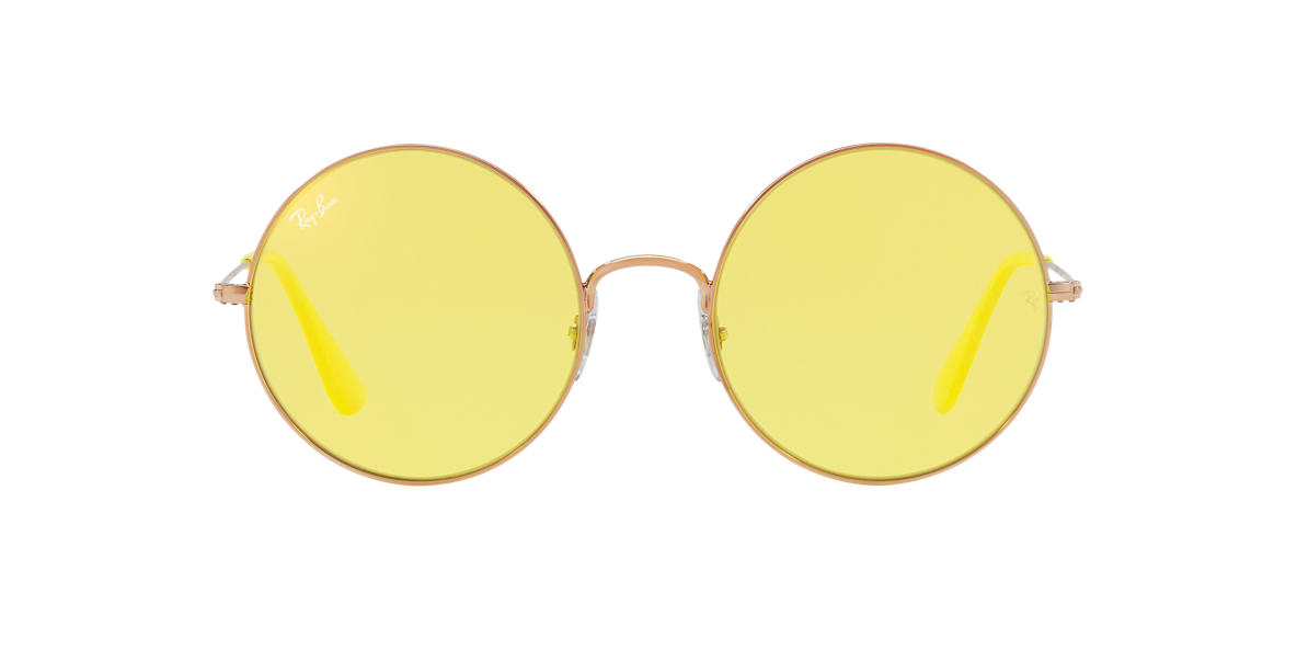 RAY-BAN Bronze Shiny RB3592 55 Yellow lenses 55mm