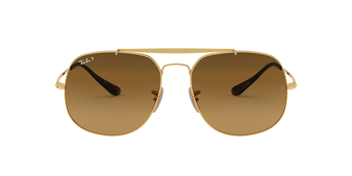 RAY-BAN Gold RB3561 57 Brown polarised lenses 57mm