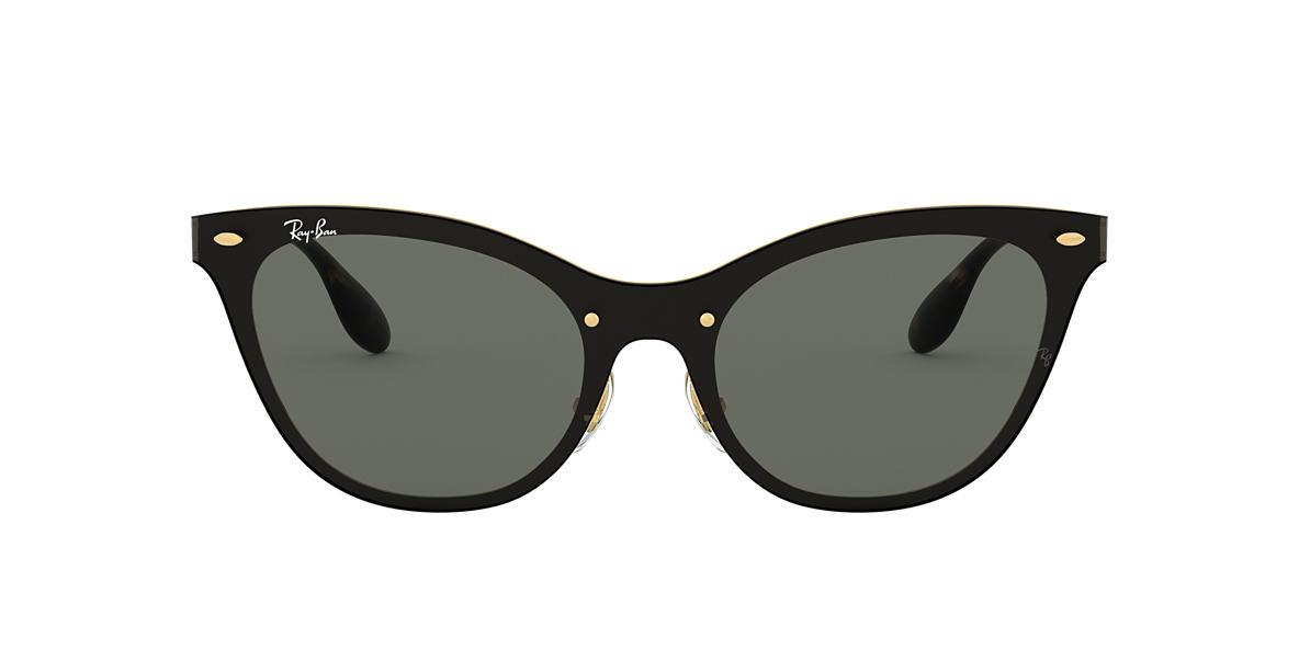 ray ban rb3580n blaze cat eye flat lens 43 green gold. Black Bedroom Furniture Sets. Home Design Ideas