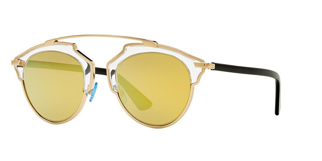 db567f185c3  560.00 (Sunglass Hut Affiliate Program). Dior Gold Round Sunglasses - so  real