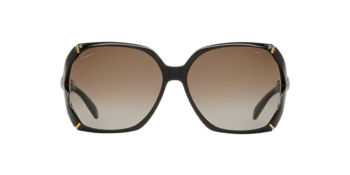 GUCCI Black GG3508/S 58 Brown polarized lenses 58mm