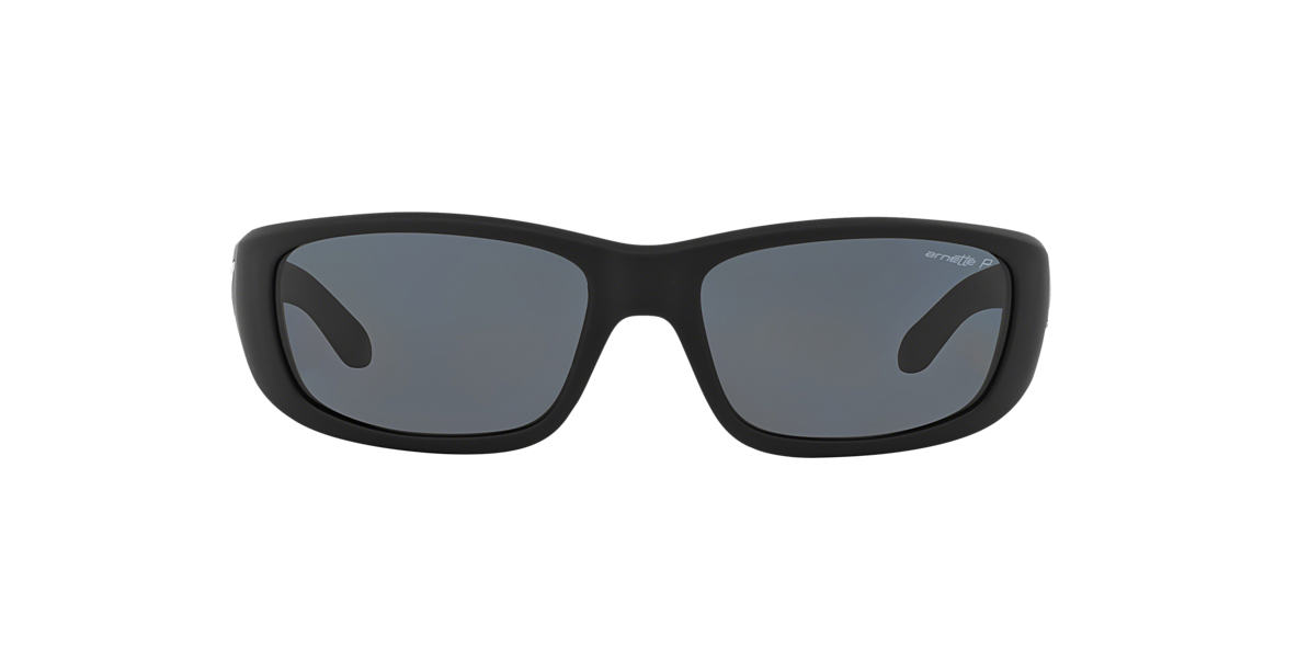 ARNETTE Black Matte AN4178 QUICK DRAW Grey polarized lenses 59mm