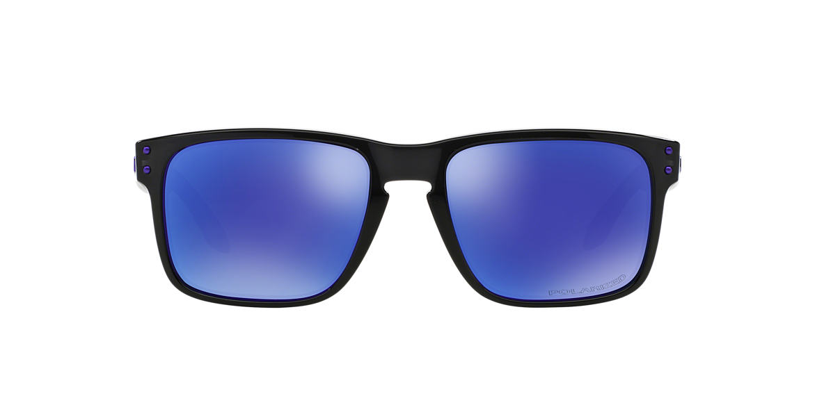 polarized oakley sunglasses u36v  OAKLEY Black OO9102 HOLBROOK Purple polarized lenses 55mm