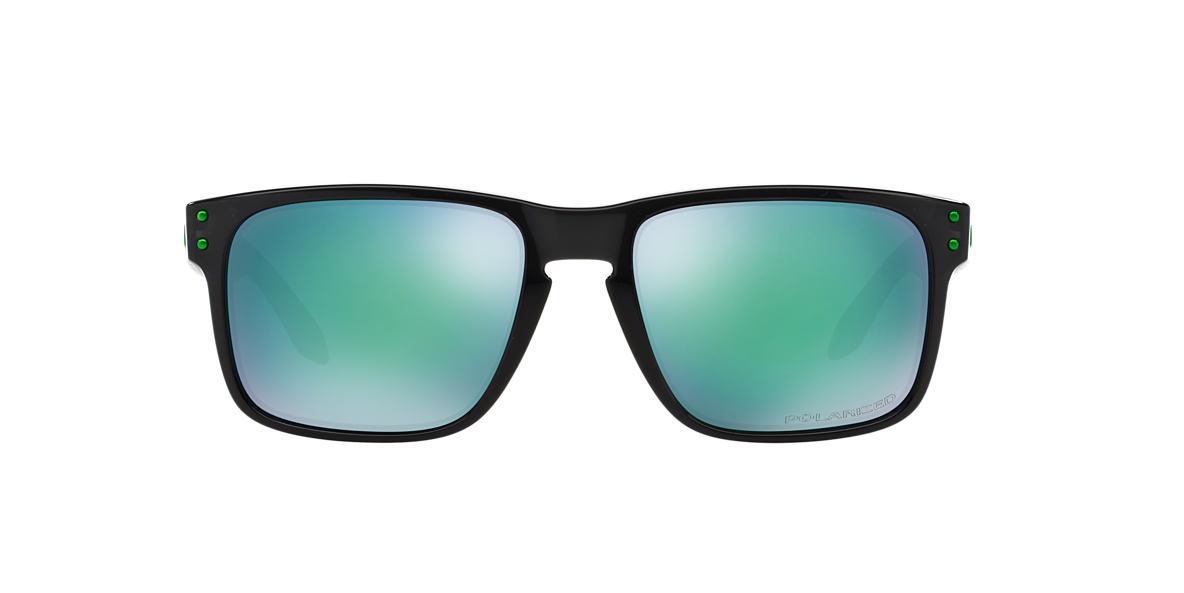 OAKLEY Black OO9102 HOLBROOK Green polarised lenses 55mm
