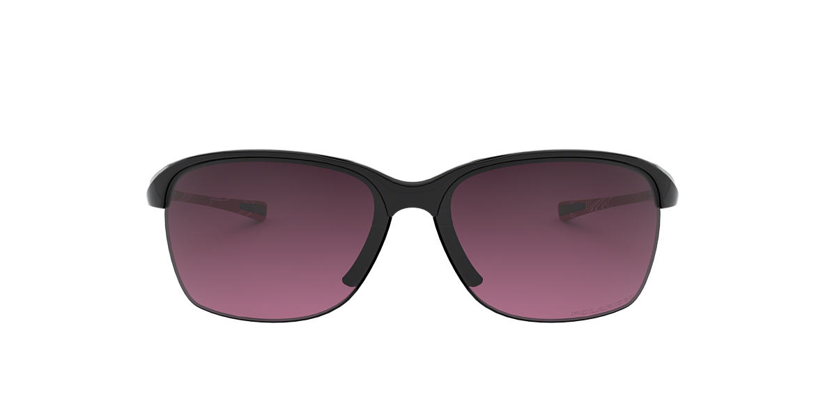 OAKLEY WOMENS Black OO9191 UNSTOPPABLE Pink polarized lenses 65mm