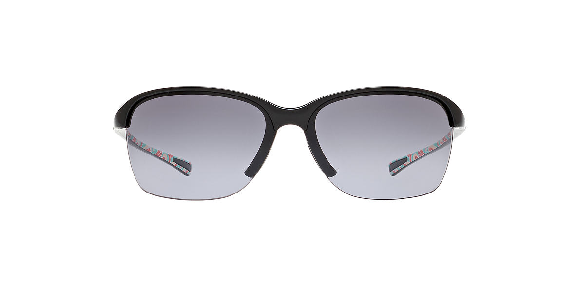 OAKLEY WOMENS Black OO9191 UNSTOPPABLE Grey lenses 65mm
